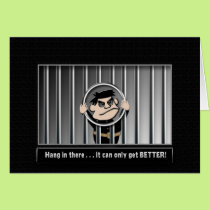 INMATE - PRISON  - BEHIND BARS - ENCOURAGEMENT CARD