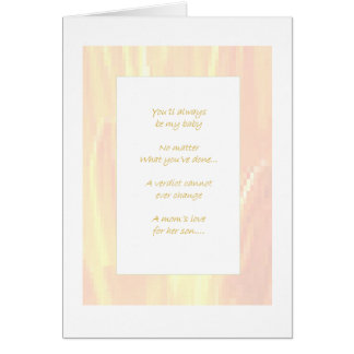 Inmate Son From Mom Greeting Card