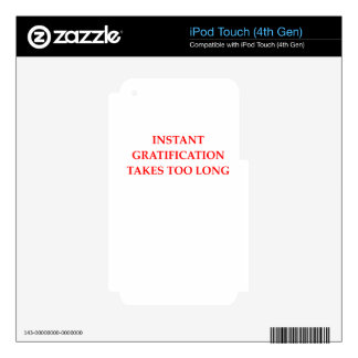 INMEDIATO iPod TOUCH 4G CALCOMANÍA