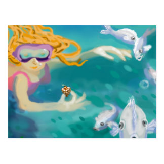 Inmersión del día de fiesta en el océano tarjetas postales