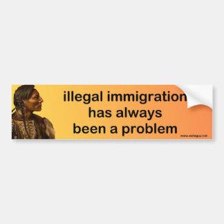 inmigración ilegal pegatina para auto