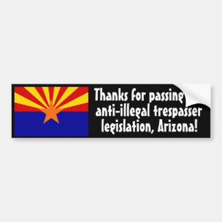 Inmigración ilegal pegatina de parachoque
