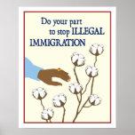 Inmigración ilegal poster