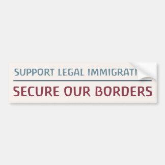 Inmigración legal de la ayuda pegatina para auto