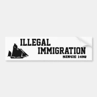 Inmigración-Pegatina ilegal Pegatina Para Auto