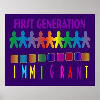 Inmigrante de la primera generación impresiones