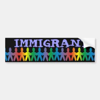 Inmigrante Pegatina Para Auto