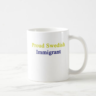 Inmigrante sueco orgulloso taza de café