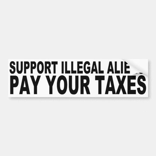 Inmigrantes ilegales de la ayuda etiqueta de parachoque