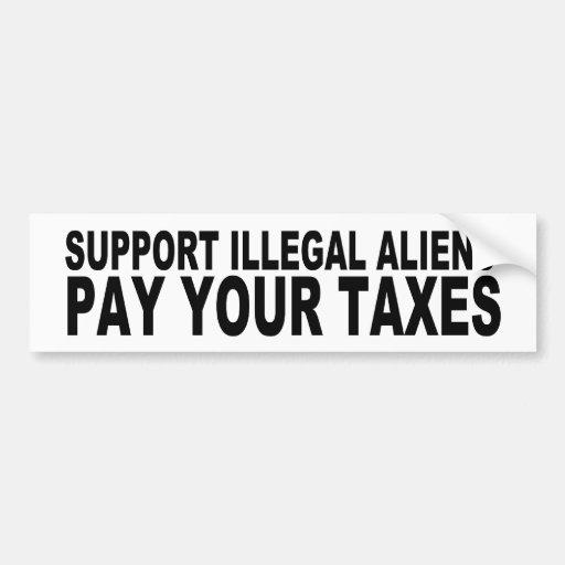 Inmigrantes ilegales de la ayuda pegatina de parachoque