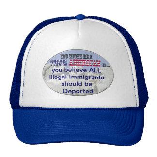 inmigrantes ilegales deportados gorras de camionero