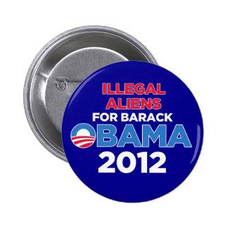 Inmigrantes ilegales para Obama Pin