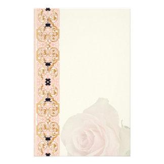 - Inmóvil - 1 color de rosa rosado Papeleria De Diseño
