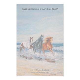 Inmóvil, caballos en la resaca  papeleria