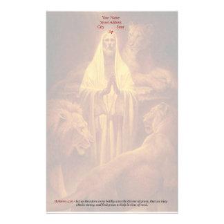 Inmóvil cristiano clásico - trono de la tolerancia papelería personalizada