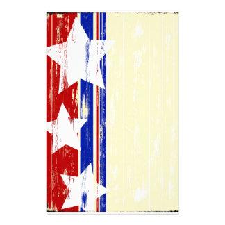 Inmóvil de madera patriótico papelería