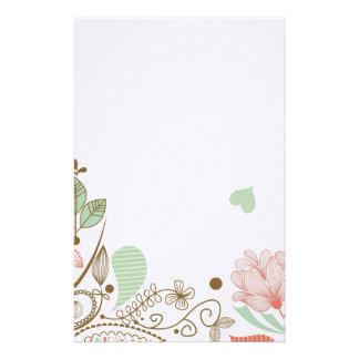 Inmóvil floral abstracto caprichoso y lindo papeleria personalizada