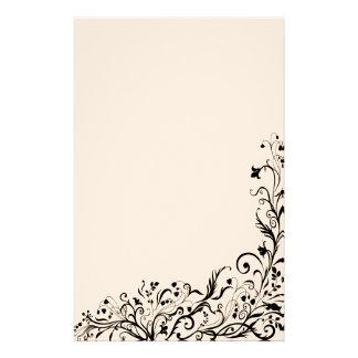 Inmóvil floral negro papelería