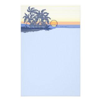 Inmóvil hawaiano de la puesta del sol grande papeleria personalizada