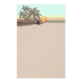 Inmóvil hawaiano de la puesta del sol grande  papeleria de diseño