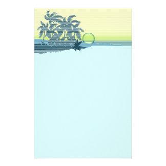 Inmóvil hawaiano de la puesta del sol grande papelería de diseño