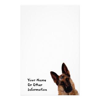 Inmóvil personalizada foto del pastor alemán  papeleria