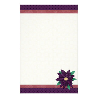 Inmóvil púrpura del navidad papeleria personalizada