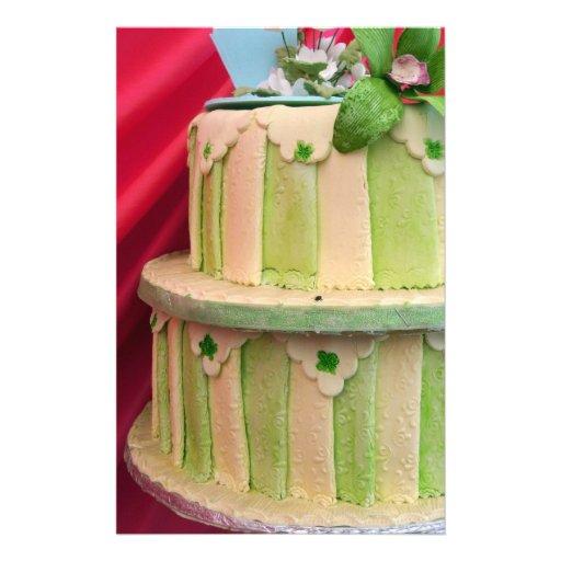Inmóvil rayado verde  papeleria