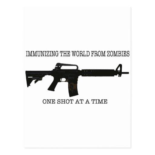 Inmunizaciones del zombi tarjetas postales