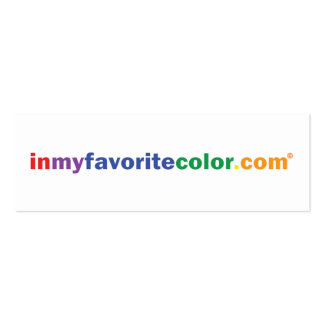 InMyFavoriteColor.com Promo Card - Blue Business Card Template