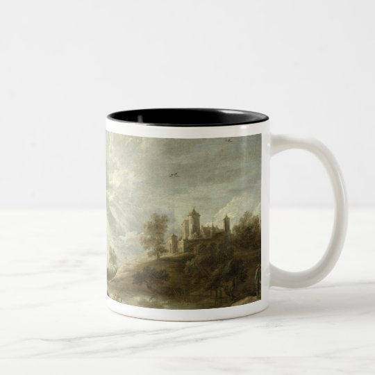Inn by a River Two-Tone Coffee Mug
