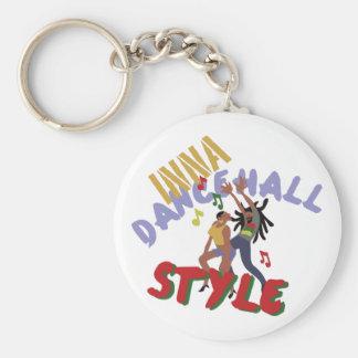 Inna Dancehall Style Basic Round Button Keychain