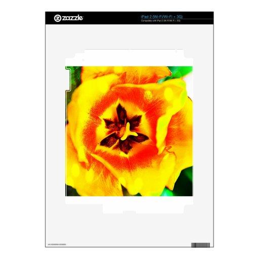 Innards del tulipán calcomanías para iPad 2