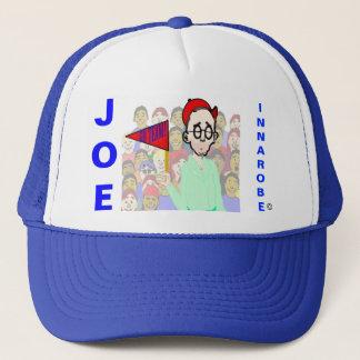 innarobe in a ballpark trucker hat