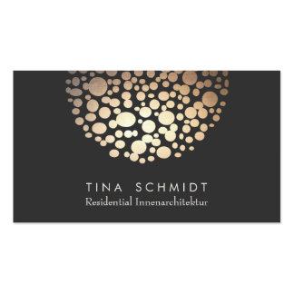 Innenarchitektin Beleuchtung Visitenkarte Business Card