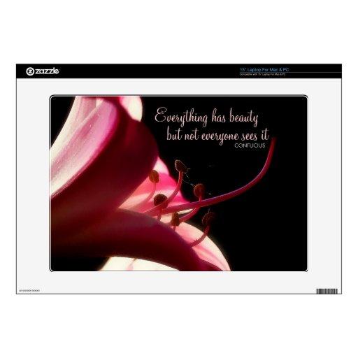 Inner Beauty Flower Macro Photo Laptop Skin