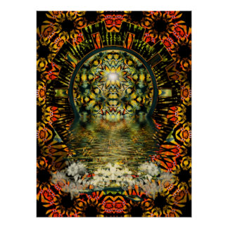 Inner Beauty Psychedelic Poster