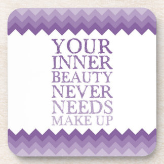 Inner Beauty Quote Drink Coasters
