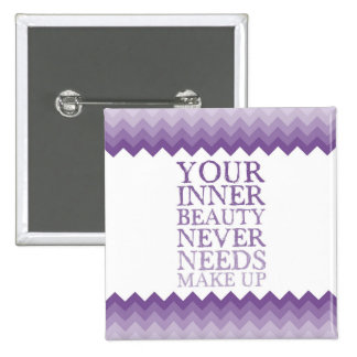 Inner Beauty Quote Square Button