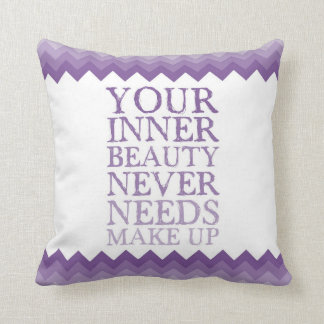 Inner Beauty Quote Throw Pillows