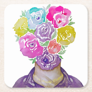 Inner Beauty Square Paper Coaster