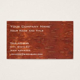 Inner Birch Bark Business Card