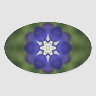 Inner Bluebonnet Flower Oval Sticker