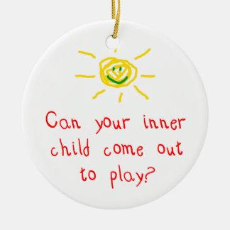 Inner Child Ceramic Ornament
