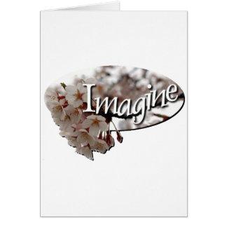 Inner Child Crochet cherry blossom logo Greeting Card