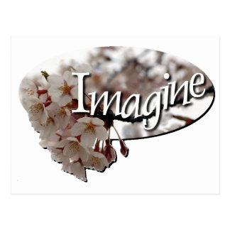 Inner Child Crochet cherry blossom logo Postcard