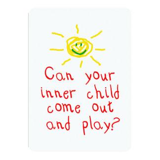 "Inner Child Party Invitation 5"" X 7"" Invitation Card"