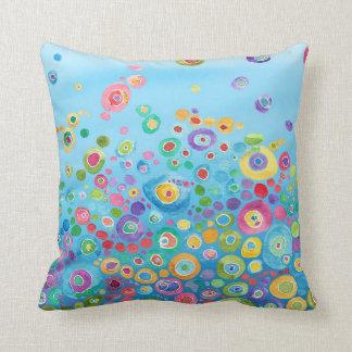 Inner Circle Blue Throw Pillow