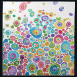 "Inner Circle Cloth Napkins<br><div class=""desc"">Fun,  colorful design &quot;Inner Circle&quot;</div>"