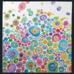 "Inner Circle Cloth Napkins<br><div class=""desc"">Fun,  colorful design &quot;Inner Circle&quot;</div>"